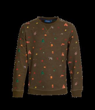 Someone Someone : Sweater Camping (Khaki)