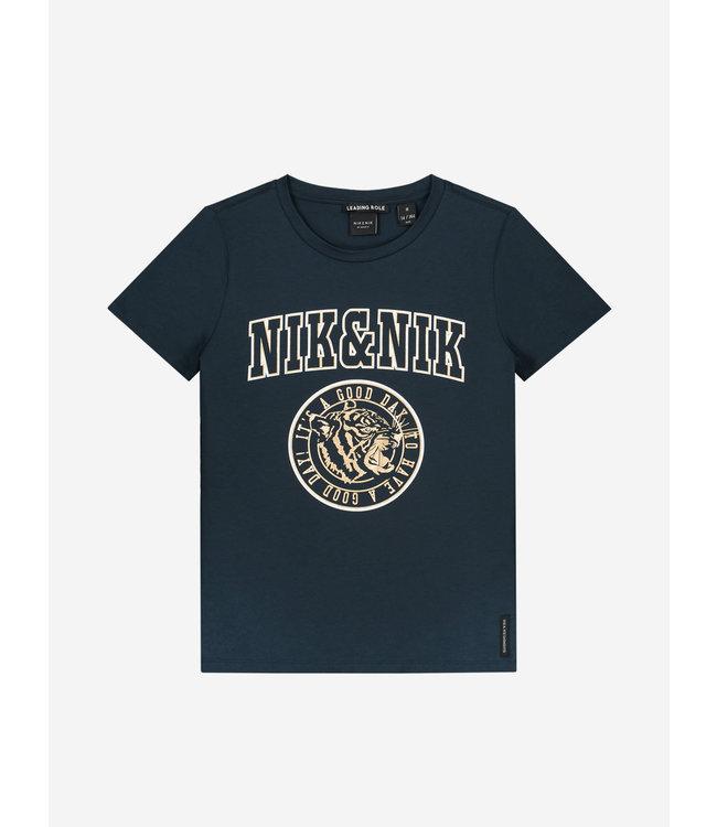 Nik & Nik Nik & Nik : T-shirt Poppy (Navy)