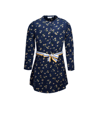 Mini Rebels Mini Rebels : Gebloemd kleed Roxy (Navy)