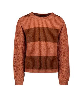 Like Flo Like Flo : Roze knit met bruine strepen