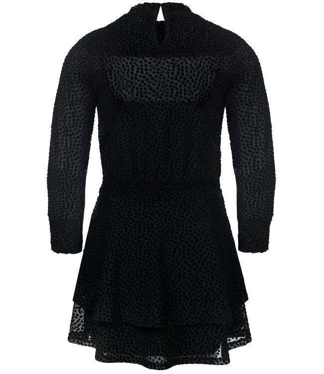 Looxs Looxs : Zwart kleedje met bolletjes