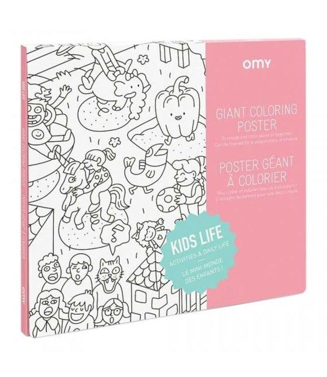 OMY OMY : Kleurposter - KIDS LIFE