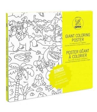 OMY OMY : Kleurposter - DINOS