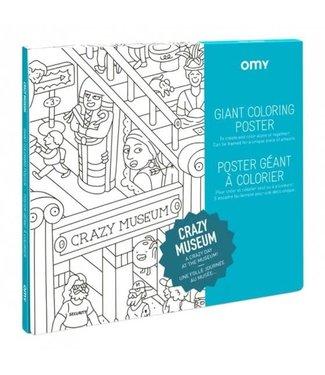 OMY OMY : Kleurposter - CRAZY MUSEUM