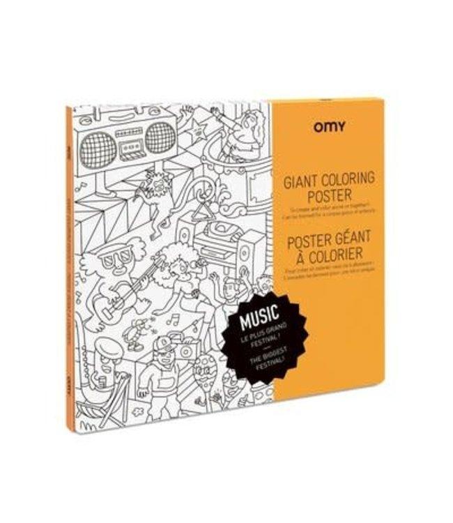 OMY OMY : Kleurposter - MUSIC