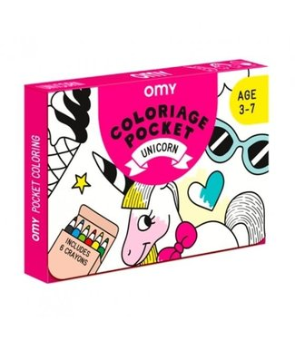 OMY OMY : Kleurposter - UNICORN (Pocket)