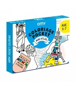 OMY OMY : Kleurposter - MINI ATLAS (Pocket)