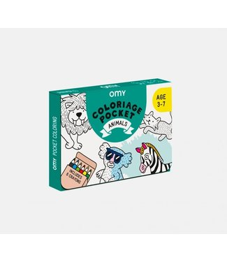 OMY OMY : Kleurposter - ANIMALS (Pocket)