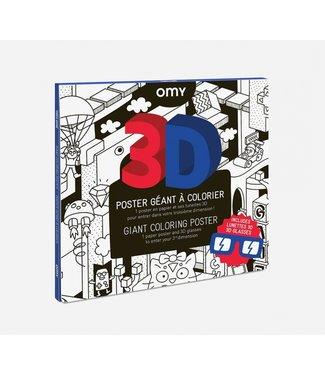 OMY OMY : Kleurposter - VIDEO GAME (3D)