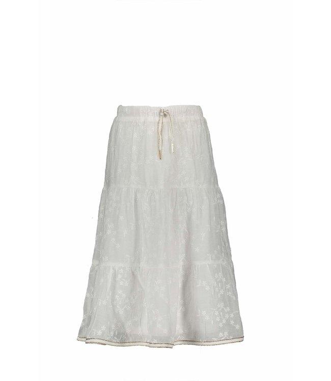 Nono Nono : Halflange witte rok met broderie