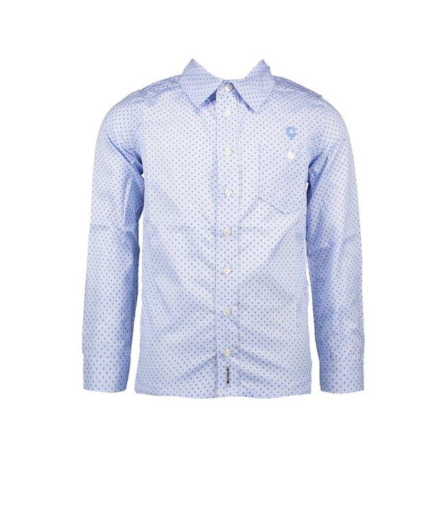 Le chic garçon Le chic garçon : Wit hemd met blauwe print