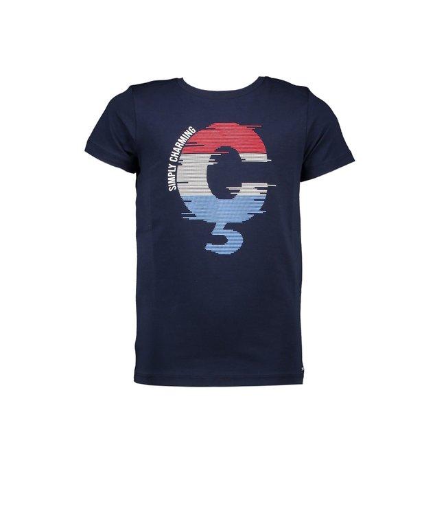 Le chic garçon Le chic garçon : Blauwe T-shirt Simply charming