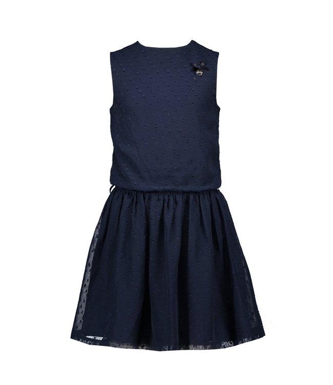 Le chic Le chic : Blauw kleed met riempje