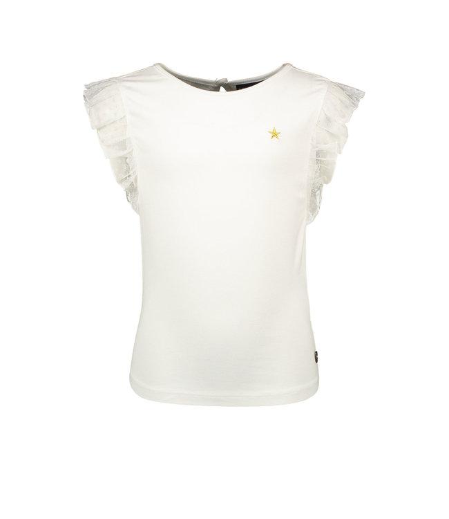 Like Flo Like Flo : Wit T-shirt met ruffle
