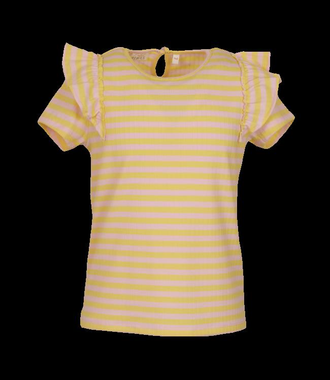 Mini Rebels Mini Rebels : T-shirt Pipa (Light pink)