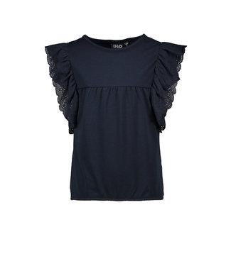 Like Flo Like Flo : Blauw T-shirt met ruffles