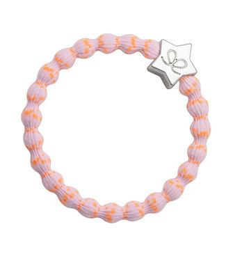 ByEloise ByEloise : Roze armband met oranje spikkels en zilveren ster