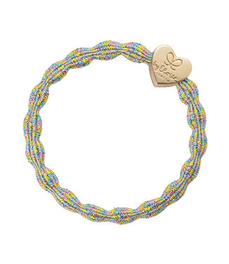 ByEloise ByEloise : Blinkende multicolor armband met gouden hart