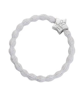 ByEloise ByEloise : Blinkend grijze armband met zilveren