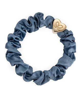 ByEloise ByEloise : Silk scrunchie blauw