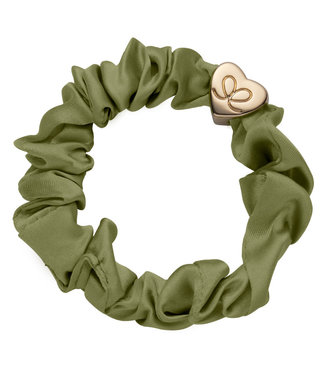 ByEloise ByEloise : Silk scrunchie khaki