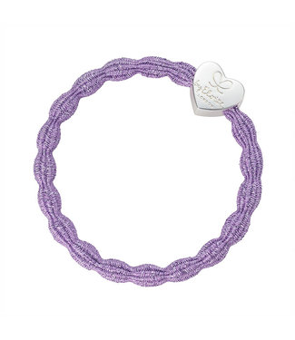 ByEloise ByEloise : Blinkende paarse armband met zilveren hart