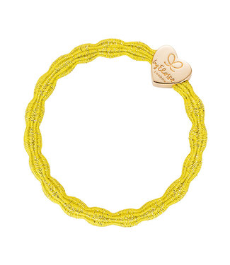 ByEloise ByEloise : Blinkend gele armband met gouden hart