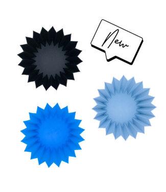 Yumbox Yumbox : Jumbo Silicone Cups Blue (3 stuks)