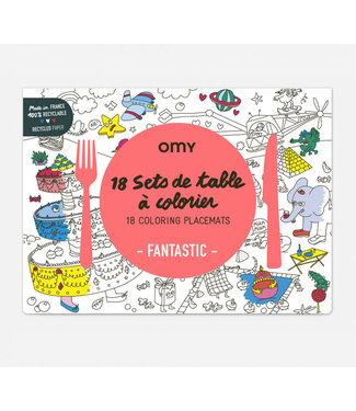 OMY OMY : Set van 18 placemats - FANTASTIC
