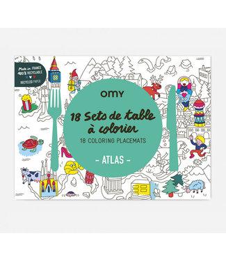 OMY OMY : Set van 18 placemats - ATLAS