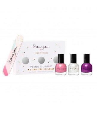 Rosajou Rosajou : Set nagellak + vijl
