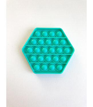 Pop it : Groene zeshoek