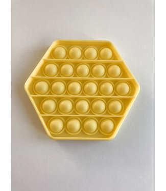 Pop it : Gele zeshoek