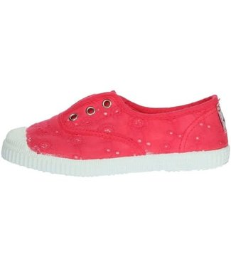 Cienta Cienta : Sneaker Rosa Vivo (bloemetjes)
