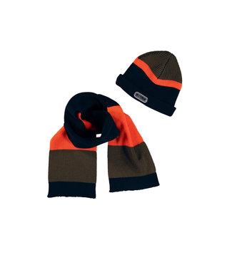 Tygo & Vito Tygo & Vito : Colorblock sjaal (orange)