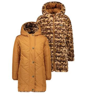 Like Flo Like Flo : Omkeerbare jas (Cognac/Leopard)