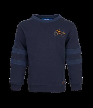 Someone Someone : Sweater Biker (Navy melange)