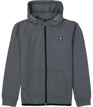 Garcia Garcia : Grijze hoodie met rits (Darl grey melange)