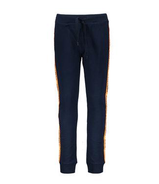 Tygo & Vito Tygo & Vito : Blauwe joggingbroek met oranje streep