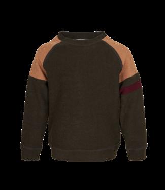 Mini Rebels Mini rebels : Sponsen sweater Liam (Dark khaki)