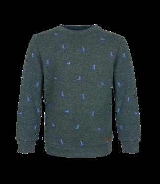 Someone Someone : Sweater Loup ( Dark green melange)