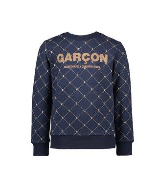 Le chic garçon Le chic garçon : Blauwe sweater Garçon