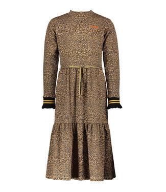 Nono Nono : Halflang kleed met luipaardprint