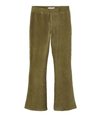 Name it Name it : Stoffen bootcut broek Onebella (Stone gray)