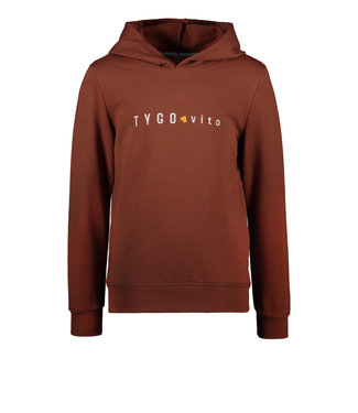 Tygo & Vito Tygo & Vito : Basic hoodie (Bruin)