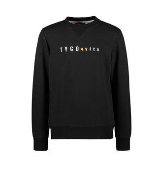 Tygo & Vito Tygo & Vito : Basic sweater (Zwart)