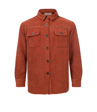 Looxs Looxs Sixteen : Oversized velours hemd