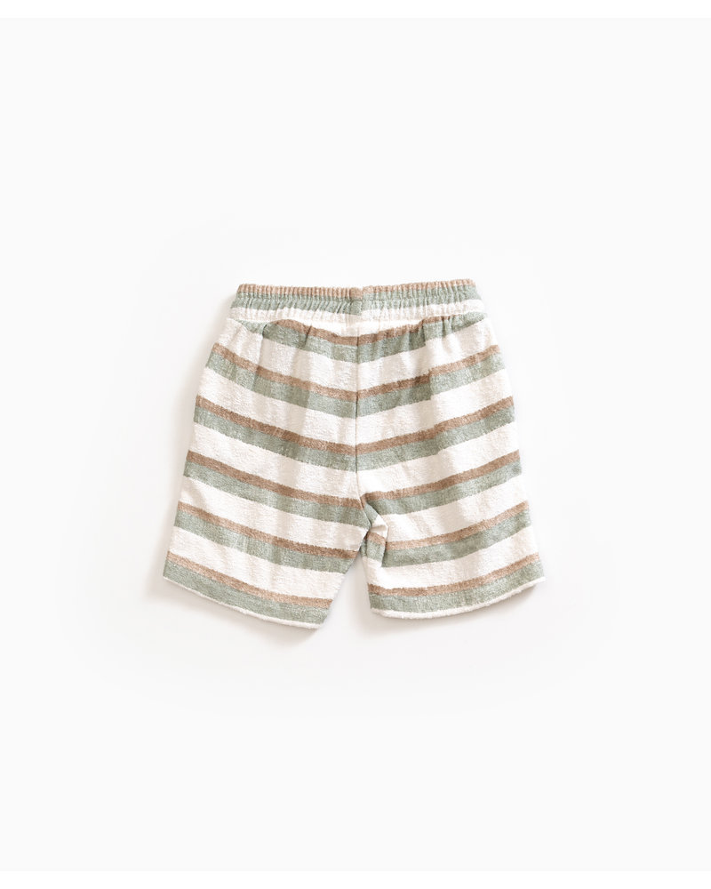 Play up Striped Terry Shorts