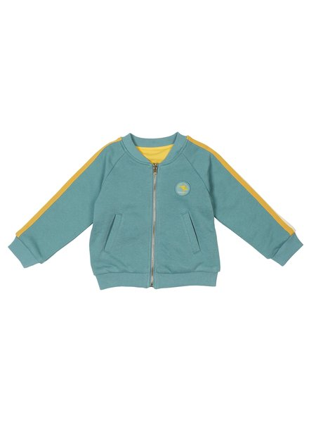Goldie + Ace Track Team Reversible BOMBER JACKET Teal