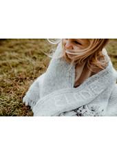 Les Petits Héros Personalized  LPH blanket Grey/Camel  (> 6 letters)